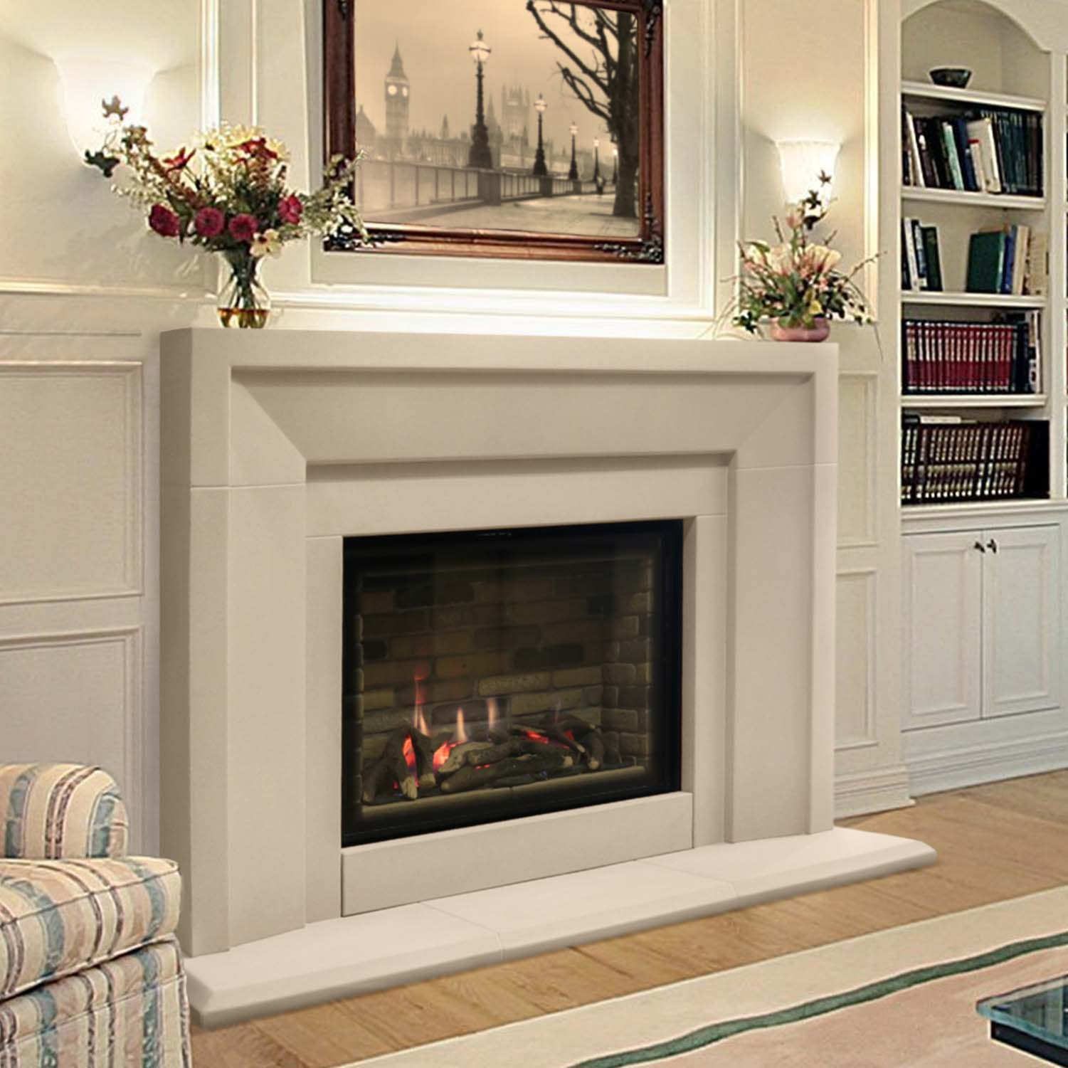 Fireplaces with large screen fires