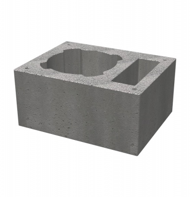 Single ventilated casing block