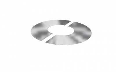 DURA TWIN WALL FLAT FINISHING PLATE 2 PART ROUND 150MM