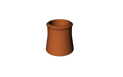 CLAY CHIMNEY POT TERRACOTTA 36''