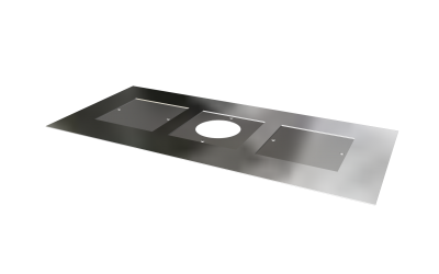 1250MM X 600MM 5'' OR 6'' CENTRE HOLE & 2 INSPECTION HOLES