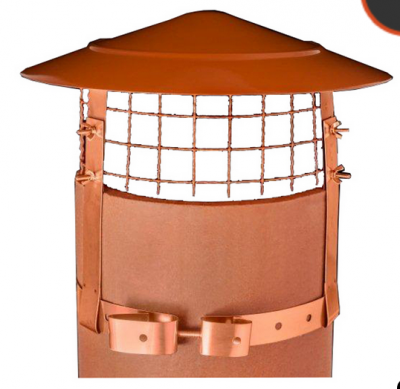 GAS JUNIOR BIRD GUARD TERRACOTTA FINISH