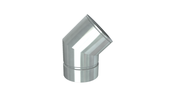 DURA GAS VENT 45 DEGREE ELBOW 5''