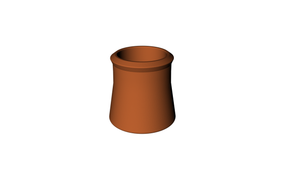 CLAY CHIMNEY POT BUFF 12''