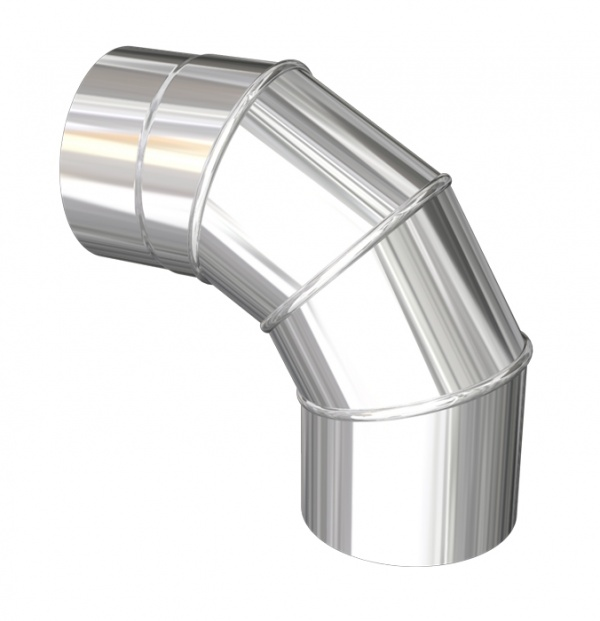 STEEL ADJUSTABLE 0-90 DEGREE ELBOW 5''